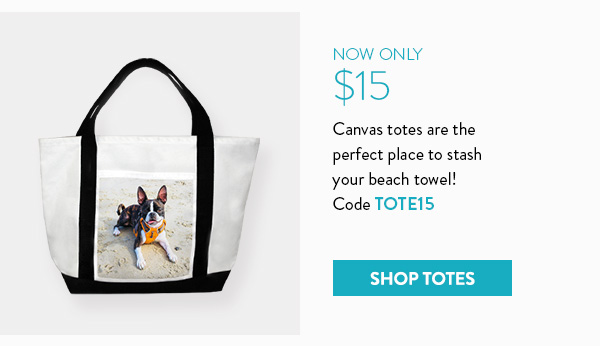 Now only $15 | Canvas totes are the perfect place to stash your beach towel! | Code TOTE15 | Shop totes