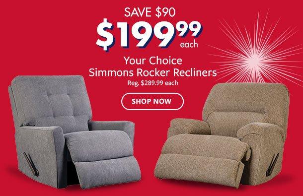 Simmons Rocker Recliners