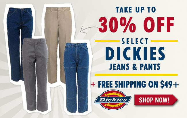 Take Up To 30% Off Select Dickies + FREE Shipping!