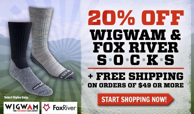 Take 20% Off Wigwam + FREE Shipping!