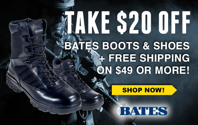 Take $20 Off Bates Boots/Shoes + FREE Shipping!