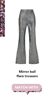 Mirror ball flare trousers