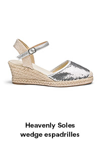 Heavenly Soles wedge espadrilles