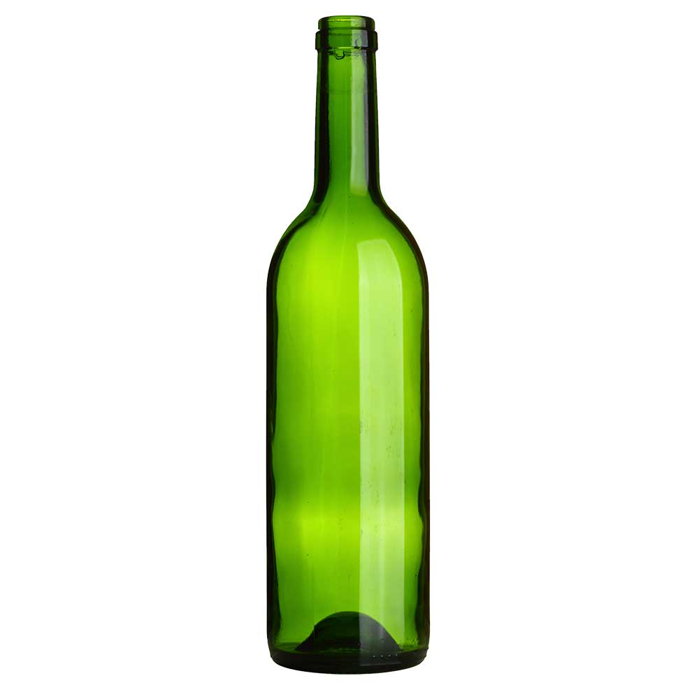 750 ml Green Claret/Bordeaux Bottles