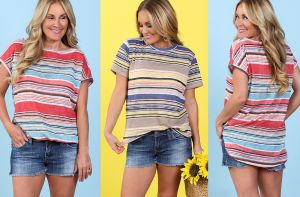 Stripe Knit Top - 2 Colors!  graphic