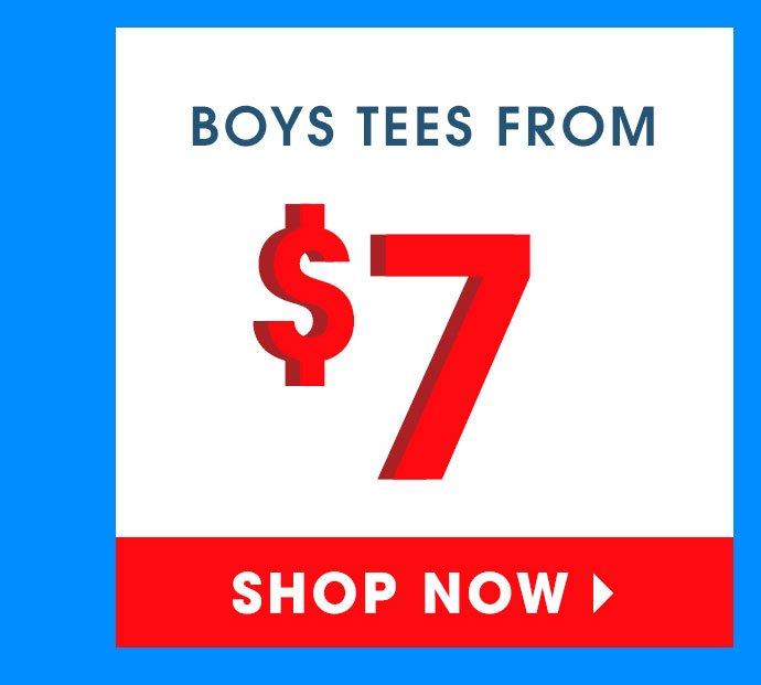Shop 60% Off Boys Tees