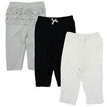 Hudson Baby - Pants with Ruffles 3-Pack - Polka Dots