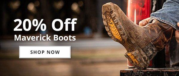 20% Off Select Maverick Boots