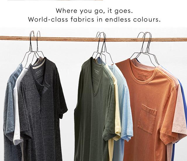 Where you go, it goes. World-class fabrics in endless colours | SHOP NOW