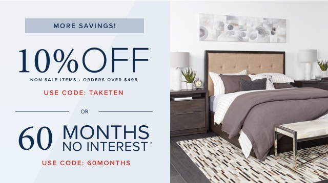 10% off or 60 months no interest
