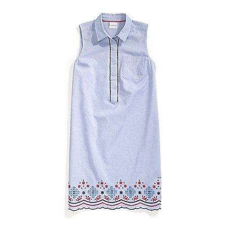 Sleeveless Floral Shirtdress
