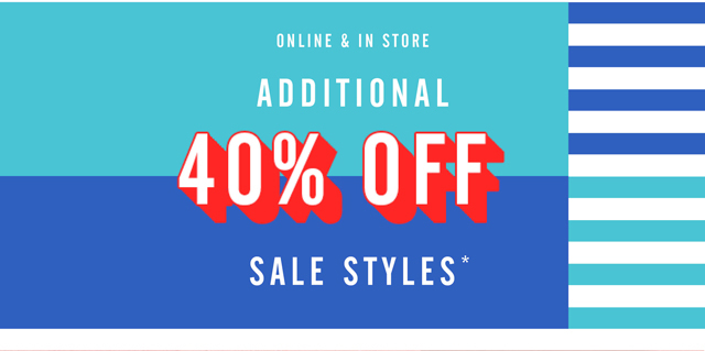 Extra 40% OFF Sale Styles