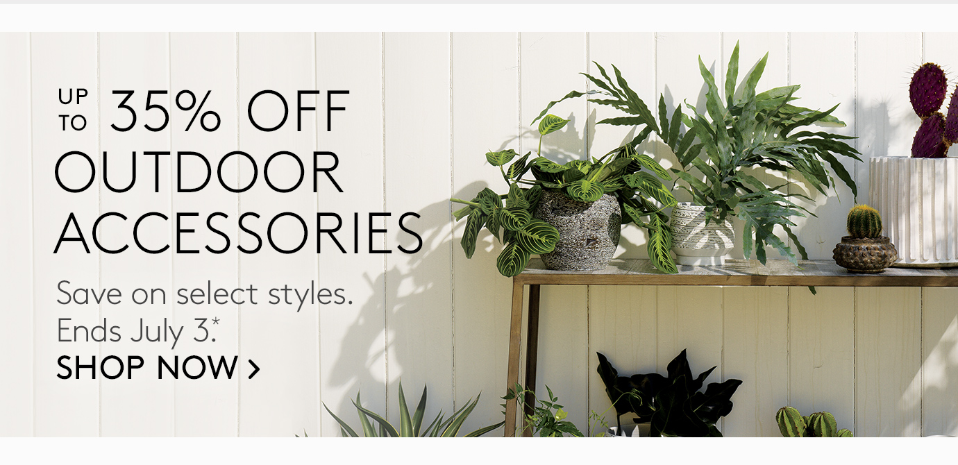 up to 35% off outdoor accessories