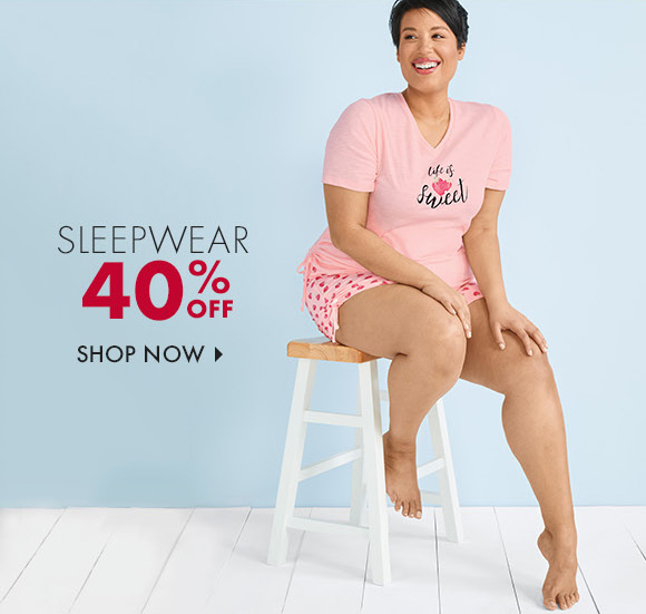 Sleepwear 40% Off