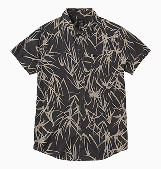Bamboo Printed Button-Up Shirt