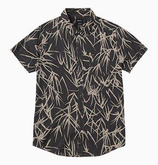 Bamboo Printed Button-Up Shirt