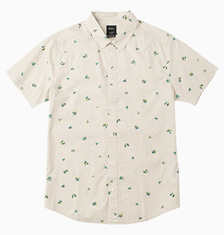 Scattered Printed Button-Up Shirt