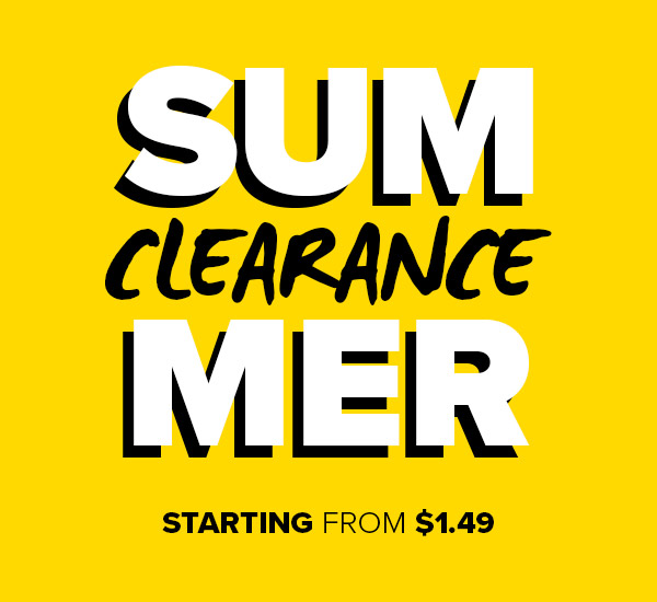 Shop Summer Clearance Starting from $1.49