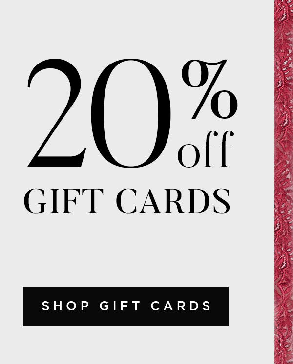Gift Cards 20% Off
