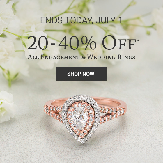 20-40% Off* All Engagement and Wedding Rings