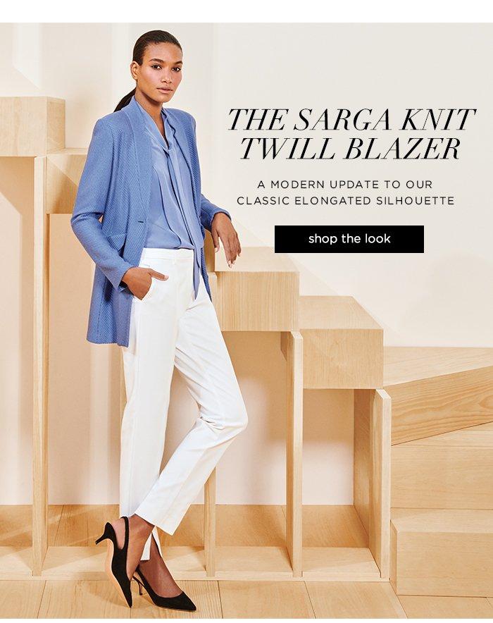 Shop Sarga Knit Twill Blazer