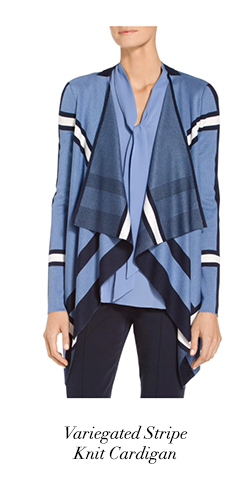 Variegated Stripe Knit Cardigan