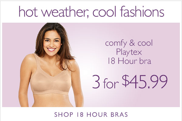 Ship FREE with $60 Order + Playtex 18 Hr Bras on Sale!