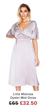 Little Mistress Oyster Midi Dress