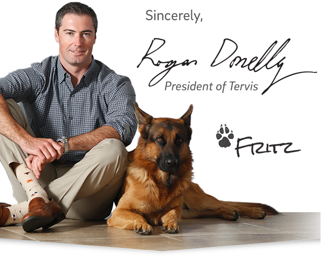 Sincerely, Rogan Donelly, President of Tervis