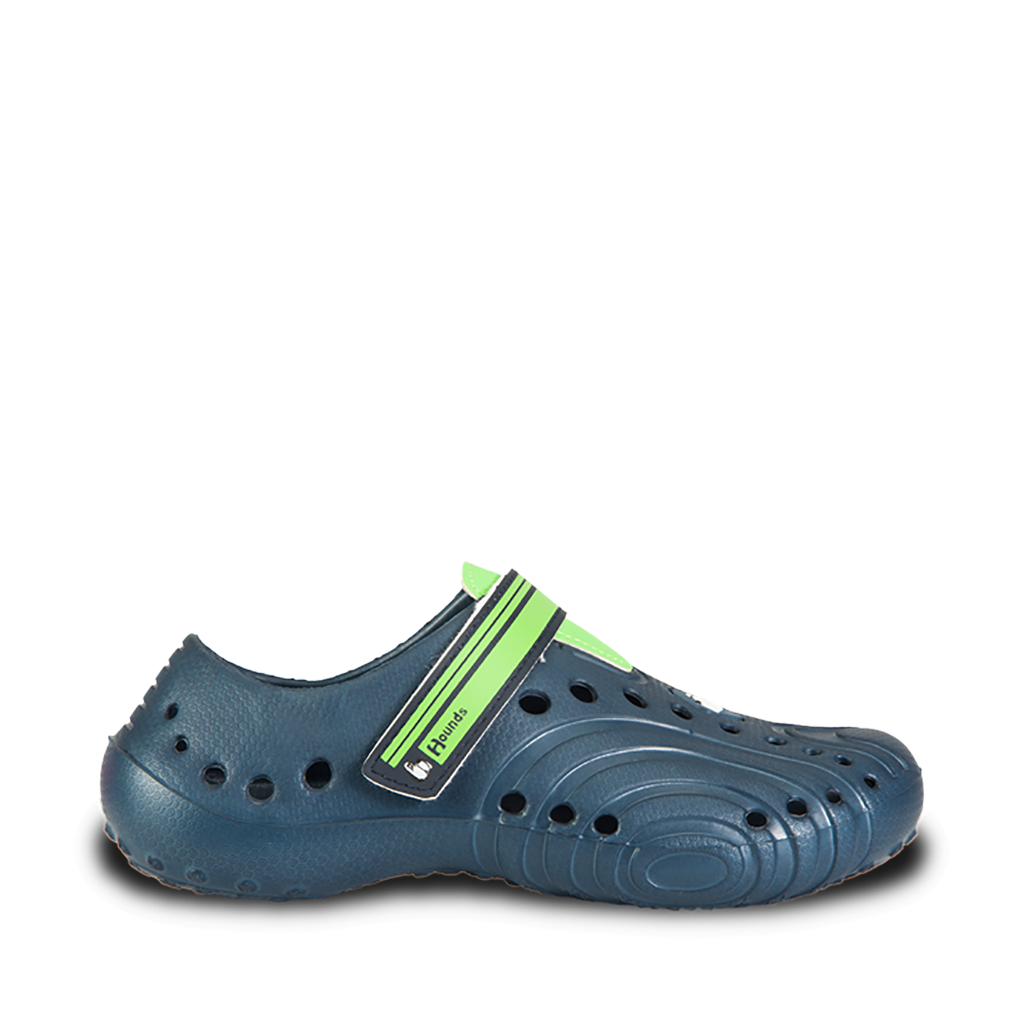 Image of Hounds Kids' Ultralite Shoes - Navy with Lime Green