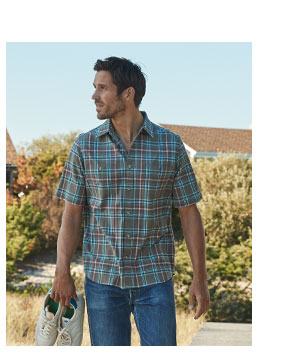 Men's Midway Yarn Dye Shirt - 97% Organic Cotton: