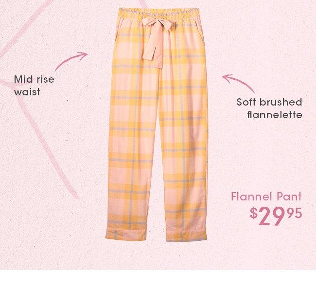 Shop Non Cuffed Flannel Pant