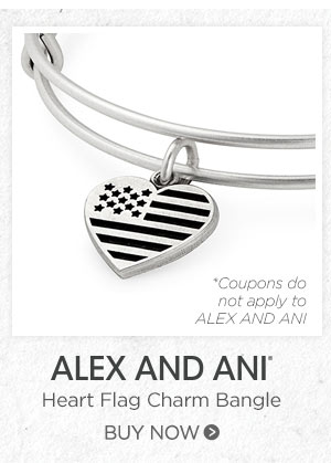 ALEX AND ANI Heart Flag Charm Bangle. Buy now.
