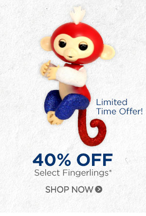 40% off select fingerlings*. Shop now.
