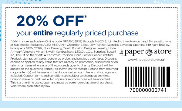 Get in store coupon.