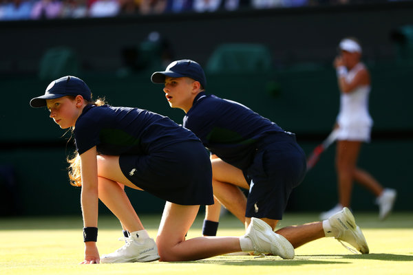 Ball boys and girls are back in action at Wimbledon starting today.