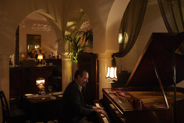 Issam Chabaa plays jazz piano at Ricks Caf, as well as managing the clubs 60 employees. Hardly a week goes by without some diner asking him to Play it again, Issam. (Although Play it again, Sam, is never actually uttered in Casablanca.)