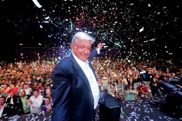 Mexico's newly elected president, Andrs Manuel Lpez Obrador, campaigned on a platform of social change, including increased pensions for the elderly, educational grants for youth and additional support for farmers.