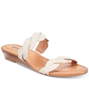 Style & Co Wennde Slip-On Wedge Sandals Created For Macy's