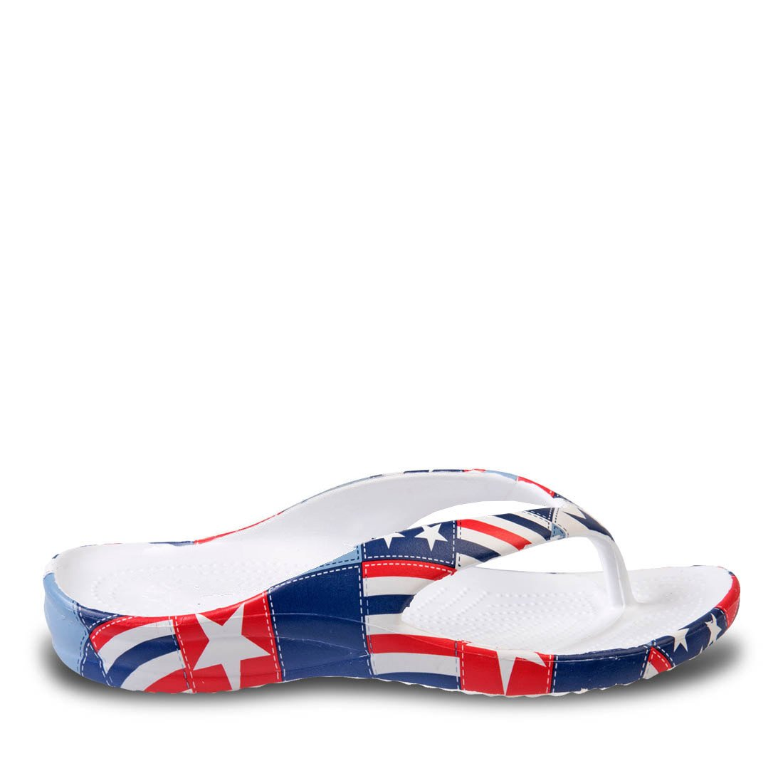 Image of Women's Loudmouth Flip Flops - Betsy Ross