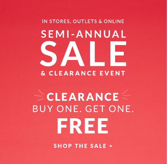 Shop The Semi-Annual Sale Clearance Event