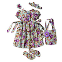 Smart Baby - Flower Girl 5 Pcs Set - Violet