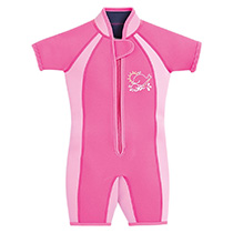 JoJo Maman Bebe - Colour Block Junior Wetsuit - Fuschia