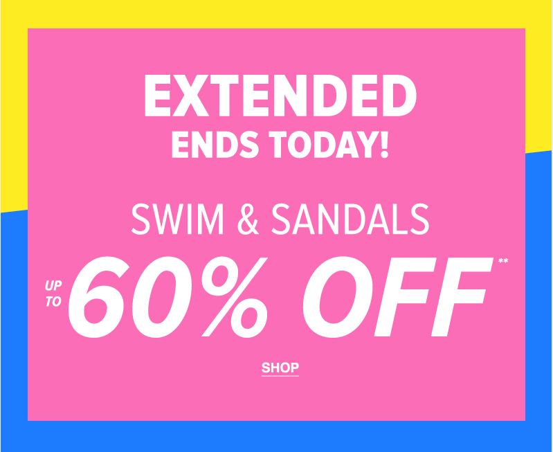 Extended! Women's Swim & Sandals Up To 60% Off** - Shop