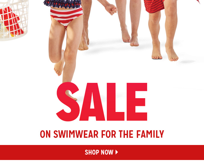 SALE ON SWIMWEAR FOR THE FAMILY   |   SHOP NOW