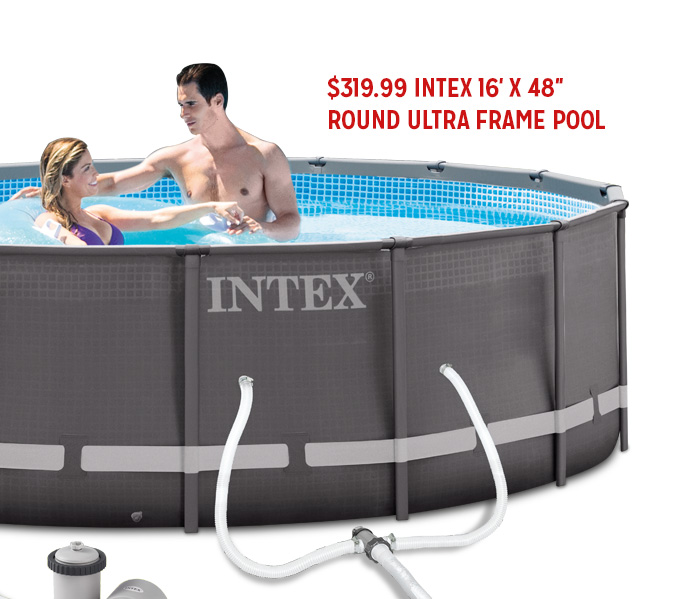 $319.99 INTEX 16-FT. X 48-IN. ROUND ULTRA FRAME POOL