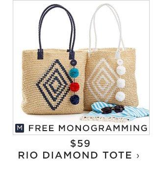 FREE MONOGRAMMING - $59 - RIO DIAMOND TOTE