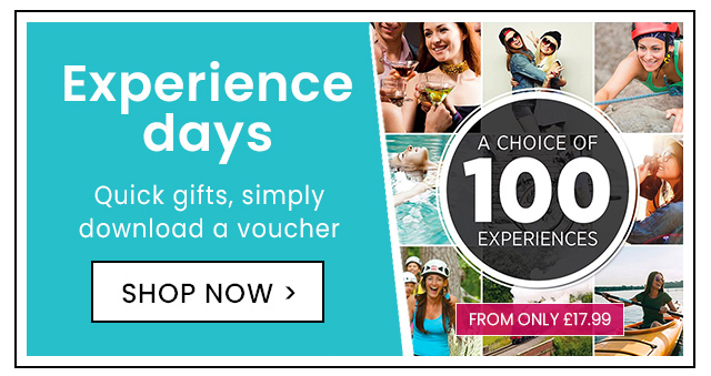 Experience days - Quick gifts, simply download a voucher >