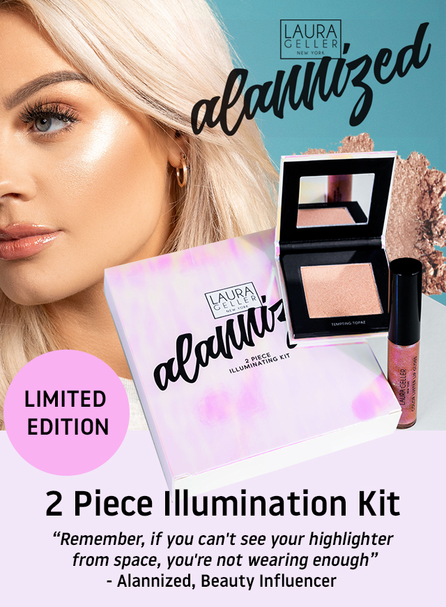 Alannized X Laura Geller New York 2 Piece Illuminating Kit
