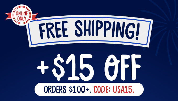$15 off Orders $100+. Code: USA15